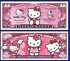 1- Hello Kitty  Dollar Bill Cartoon Novelty  Fake Novelty Money A 2