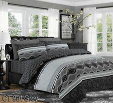 Luxury Style Reversible 4 Pcs Duvet Set Fitted Sheet Pillow Case 100 Cotton Super King Ct 901 Beige