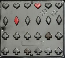Playing Card Suits Chocolate Candy Mold  530 NEW