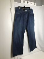 Silvertab by Levi's 34 x 32 Baggy Dark Denim Jeans  Slouch Boot EUC