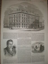 New Brown and Son Department Store Manchester 1853 old print ref T