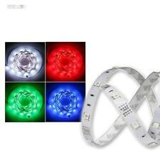 5m RGB SMD LED Tira Flexible Platine blanco, rayas multicolores