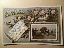 1908 GREETING POSTCARD- Oh! happy.may your.Birthday.be and..of them may. you.see