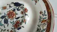 Antique Wedgwood China Brown Japan Kashmar Orange Flower Cheese Plate Saucer?