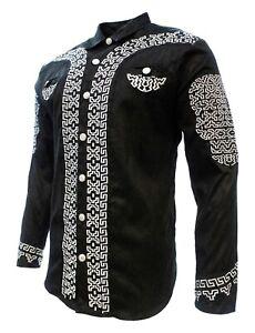 Men's Charro Shirt White Diamond Camisa Charra Multiple Colors