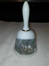 Vintage 1978 avon holiday Christmas dinner bell Currier And Ives dealers only