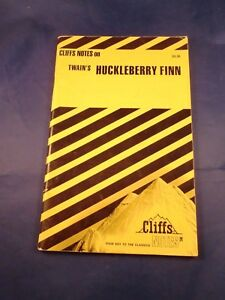 Cliff's Notes: The Adv of Huckleberry Finn by James L. Roberts (1988, Paperback)