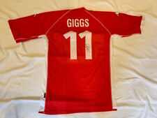 Ryan Giggs signed Wales soccer jersey Football Shirt