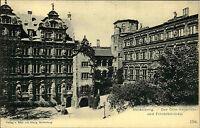 Heidelberg am Neckar AK um 1900 Schloss Partie alte PK Castel Vintage Postcard