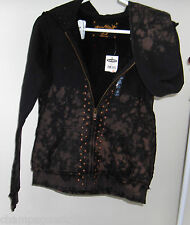 Womens Size Small * OLD NAVY SPECIAL EDITION * Black Studded Hoodie Jacket NWT