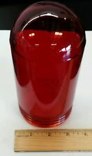 """Globe GB5400RC Red (7"""") Light Cover External Threaded(Twist-On)Clear Transparenc"""