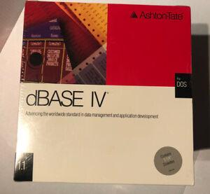 Ashton Tate dBase IV- Ver. 1.1 Upgrade- 5 1/4 Disk & Materials-DOS- 1990- Sealed