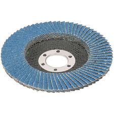 Rueda de la aleta disco 80 Grit lijado de pulido acero inox Circonio Molinillo de arena 115mm