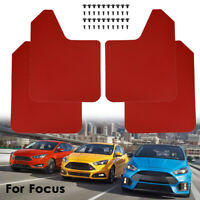 For Ford Focus ST mk2/ST225 MK3 Mudguards Mud Flaps Guards Mudflaps Red 4pcs