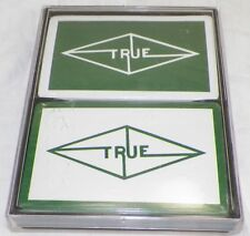 2 DECKS OF SEALED TRUE OIL PLAYING CARDS IN HARD PLASTIC CASE  -A6