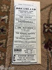 k2-3  ephemera 1966 advert margate the new five checkmates tony rivers