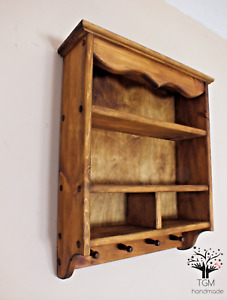 s98 Traditional Kitchen's Cabinet | Timber Shelf | Wall Mounted Shelving Unit |