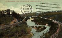 C.1910 Erie and Bessemer Tracks, Shenahgo Valley, Greenville, Pa. Postcard P131