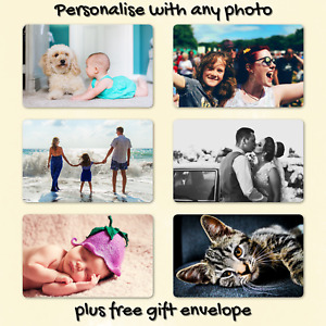 Personalised Father's Day METAL Wallet Keepsake Photo Gift Card for Dad Grandad