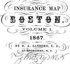Boston, Massachusetts~ about 54 sanborn maps~ on Cd
