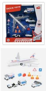 Airport Playset Dickie Toys 13 Pieces Plane Plus More NEW
