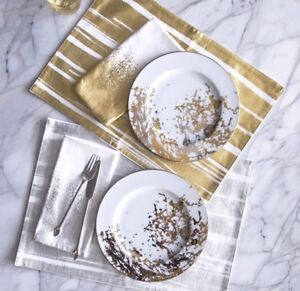 Placemats Gold or Silver, Brushstroke