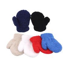 Plush Thick Warm Gloves Winter Fleece Full Finger Gloves For 1-4Y Kids Mitten B
