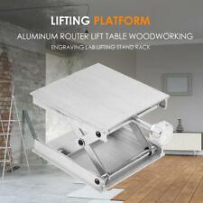 Aluminum Router Lift Table Woodworking Engraving Lab Lifting Stand Tool (Silver)