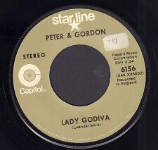 "PETER & GORDON – Lady Godiva (US VINYL SINGLE 7"" REISSUE)"