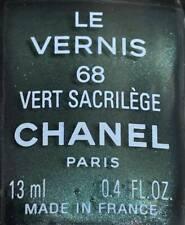 Chanel nail polish 68 vert sacrilege rare limited edition BNIB