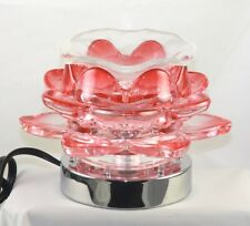 ✨Glass Electric Oil Warmer Wax Melt Fragrance Lamp Red Lotus Flow✨