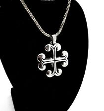 """VINTAGE JAMES AVERY STERLING SILVER IRON CROSS STYLE PENDANT W/18"""" NECKLACE"""
