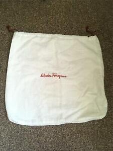 Salvatore Ferragamo white bag dustbag dust bag  authentic