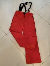 Spyder snow ski pants with straps Size youth 18 Waterproof Insulated RED