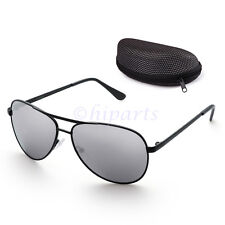 c90d956b2bb Polarized Aviator Sunglasses for Women Men Case Vintage Sports Driving  Mirrored