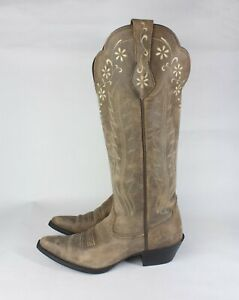ARIAT Womens Brown Leather Western Cowboy Boots Knee High EU 38.5M US 7.5B UK 5M