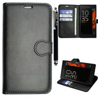 Pu Leather Wallet Book & Gel Case  Cover Skin For Sony Xperia XA Ultra, C6, XA1