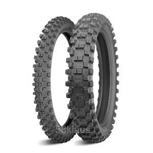 Satz Michelin Tracker 110/100-18 64R + 80/100-21 51R Enduro Set Paar Reifen