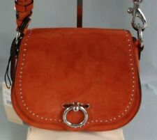 Authentic Rebecca Minkoff  Rust Suede/Leather Small Jean Saddle Bag---NWT $298
