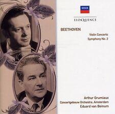 Ludwig van Beethoven - Beethoven: VLN Cto / Sym No 2 [New CD]