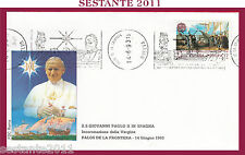 W378 VATICANO FDC ROMA VISITA PAPA GIOVANNI PAOLO II SPAGNA PALOS FRONTERA 1993