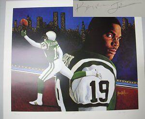 Keyshawn Johnson signed New York Jets 20x24 Lithograph