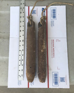 2 Antique Vintage Cast Iron Window Sash Weights, Approximately 5 lbs Each