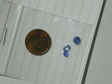 Sapphire 1.43 Carats Total Weight  3 Faceted Slight Natural Inclusions Blue
