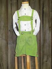 Kidstracht Babylederhose Kinderlederhose Lederhose kurz grün  Gr 62 - 176 Tracht