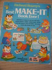 Vintage 1978 RICHARD SCARRY'S Best Make It Book Ever! Kids Activity Book