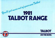 Talbot 1980-81 UK Market Brochure Sunbeam Avenger Horizon Alpine Solara Rancho