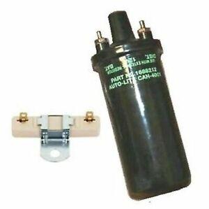 Ign Coil w/AutoLite Script & Ballast for 1956-59 Ply - Dodge - DeSoto - Chrys