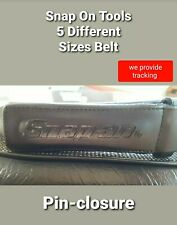 new SNAP ON GENUINE Mechanics No-Scratch Black Leather Work Belt w/Tags 30 TO 50