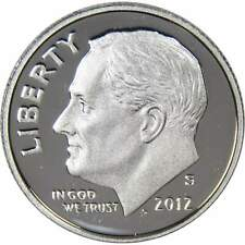 2012 S Roosevelt Dime Choice Proof 90% Silver 10c US Coin Collectible